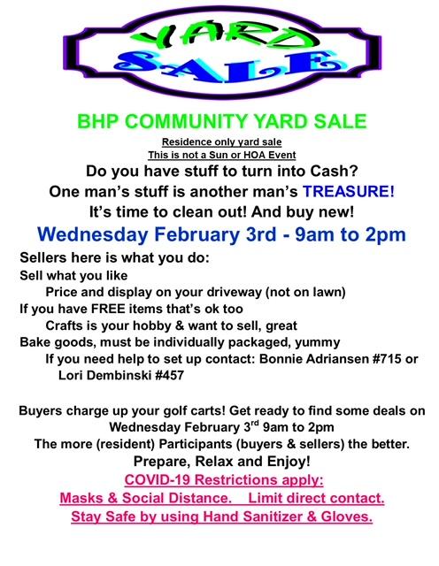 Community Yard Sale flyer 156